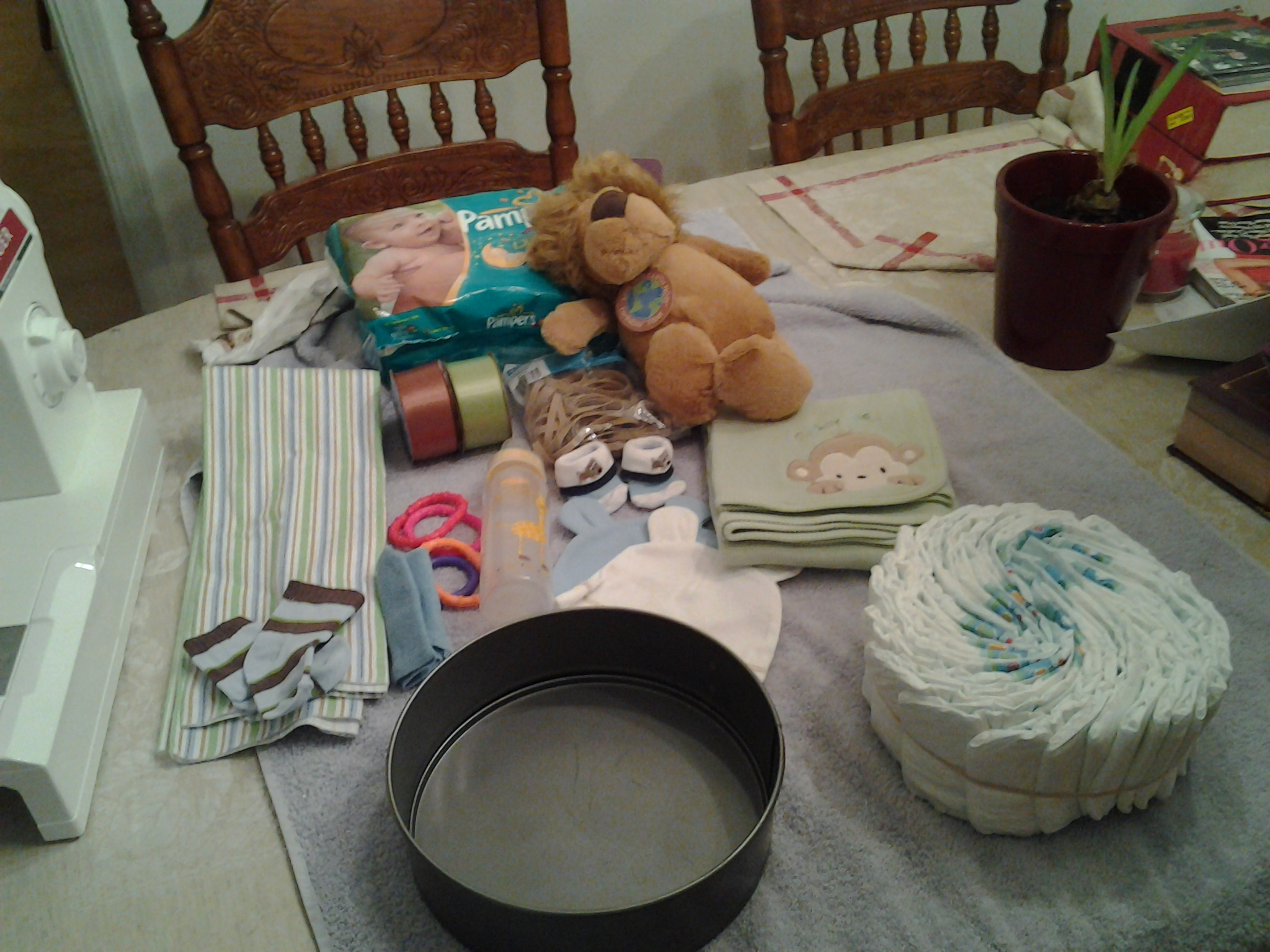 Motorcycle Diaper Cake For Boy